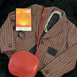Vintage Liz Clairborne Wool Blend Blazer Size 8